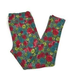LuLaRoe Tall and Curvy Leggings Floral Print